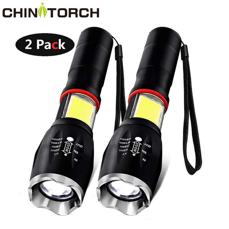 LED Tactical COB Flashlight 6 Modes CREE T6 Waterproof Outdoor Work Light 18650 Battery Torch Portable Emergency Magnet Lamp