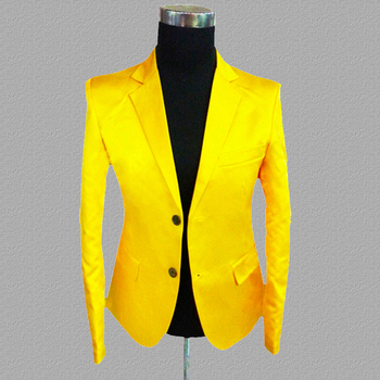 yellow blazer men suits designs jacket mens stage costumes for singers clothes dance star style dress punk rock masculino homme