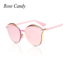 Rose Candy New 2016 Vintage Style Cat eye Brand Designer Small Size Italy Sunglasses women Mirror UV400 Sun glasses Lady Eyewear