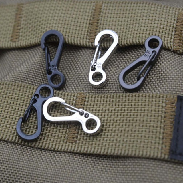 10Pcs/Lot Survival Outdoor Mini Aluminium Hang Buckle Quickdraw Key Chain new arrival free shipping