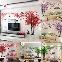 Huge Tree Acrylic 3d Wall Stickers Warm Sweet Living Room Hallway Vestibule Bedroom TV Background Wall Stickers Home Decoration