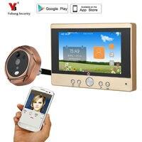 Yobang Security 720P WiFi Wireless Digital Peephole Door Viewer 5 Front Door Peephole Camera Wifi Doorbell