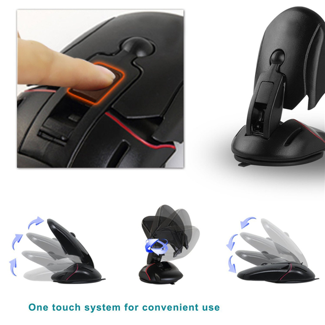 2016 New Mouse Car Phone Holder Universal 360 Windshield Mount Bracket