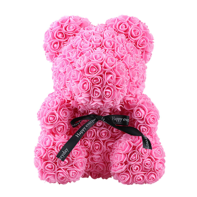 Home & Garden Artificial Decorations Rose Bear Toys Women Girls Flower Birthday Party Valentine Wedding Romantic Doll Gifts 18styles 2019 Valentines Day Present