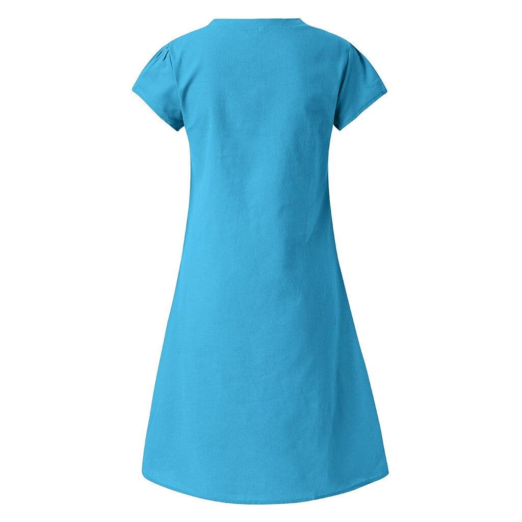 HTB17gr8O6DpK1RjSZFrq6y78VXag Cotton And Linen women's clothing O-Neck summer dresses and sundresses Printed Plus Size Ladies dresses summer sukienka #G6