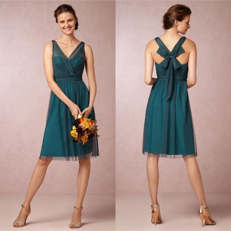 Popular Teal Knee Length Dress-Buy Cheap Teal Knee Length Dress ...
