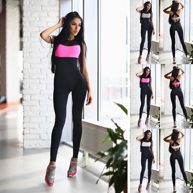 f3411f1d715f Mono Sexy Yoga pantalones Leggings de gimnasio chándal ropa deportiva Yoga  mujeres Yoga de mujer de entrenamiento traje de deporte gimnasio ropa de ...