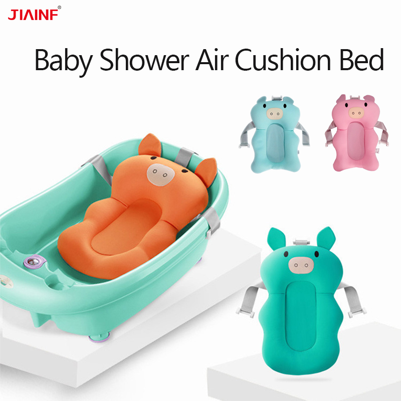 Baby Bathtub Cushion Non-Slip Shower Air Mat Bed Babies Bathroom Seat  NewBorn Bathing Chair/Shelf Support Dropshipping