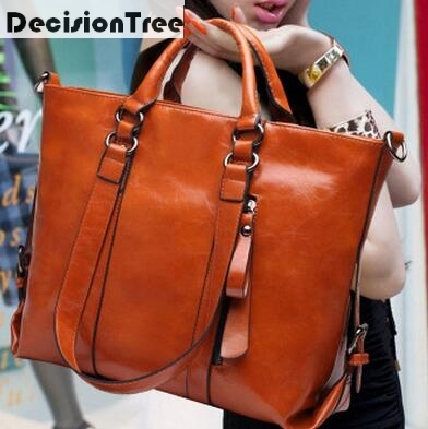 Luxury Women Bags Designer Oil Wax Leather Handbags Fashion Messenger Shoulder Bag Las Large Croseebody Tote In Top Handle From