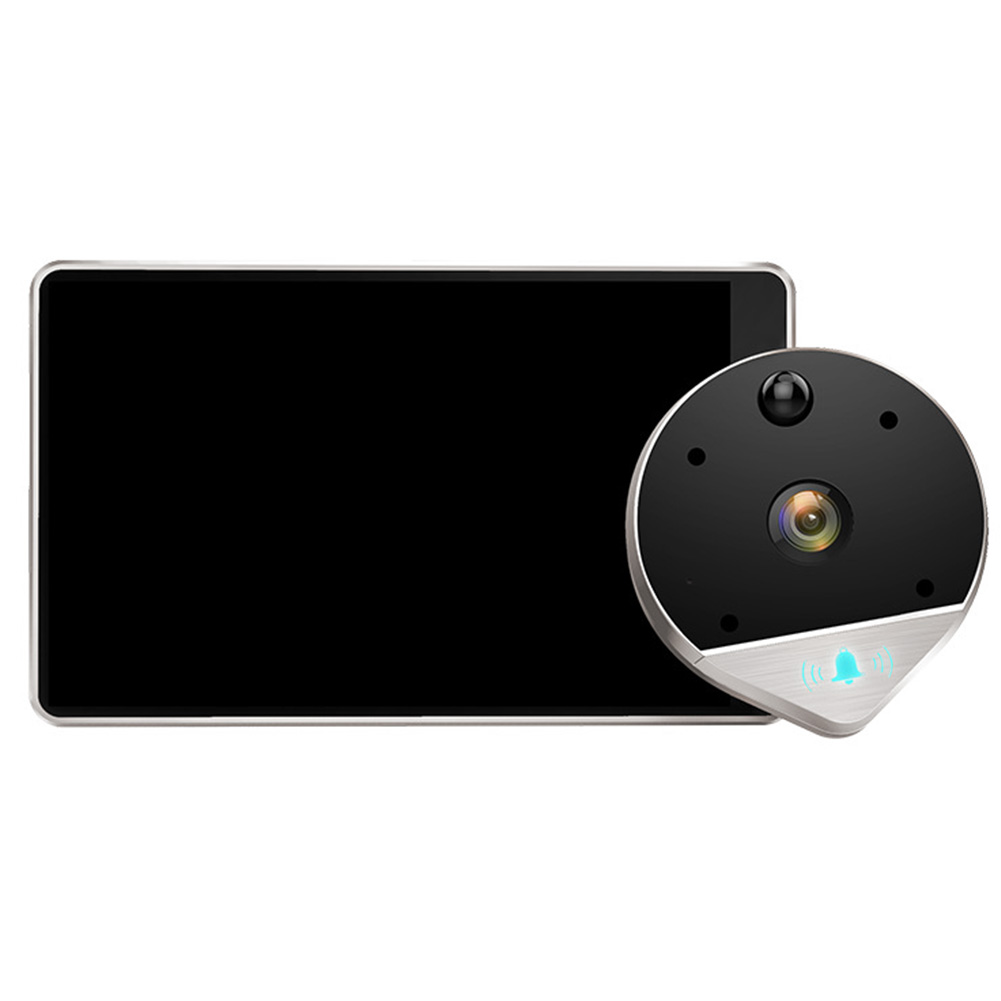 Visual Night Vision Remote Monitoring Peephole Electronic Video Anti theft WIFI Wireless Doorbell Intercom Smart Wide Angle-in Doorbell from Security & Protection