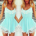 Sexy Lady Women Clothing Outfits Rompers Summer Print Jumpsuit Casual Loose New Ladies Beach Party Holiday Playsuit Shorts 2016