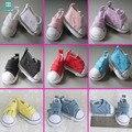 1pair 5cm mimi Canvas shoes Doll Accessories for1/6 Bjd Tilda doll Pink, purple