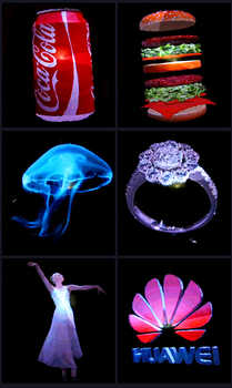 3D Hologram Advertising Display LED Fan Holographic 3D Photos and Videos - 3D Naked Eye LED Fan is Best for Holiday Events
