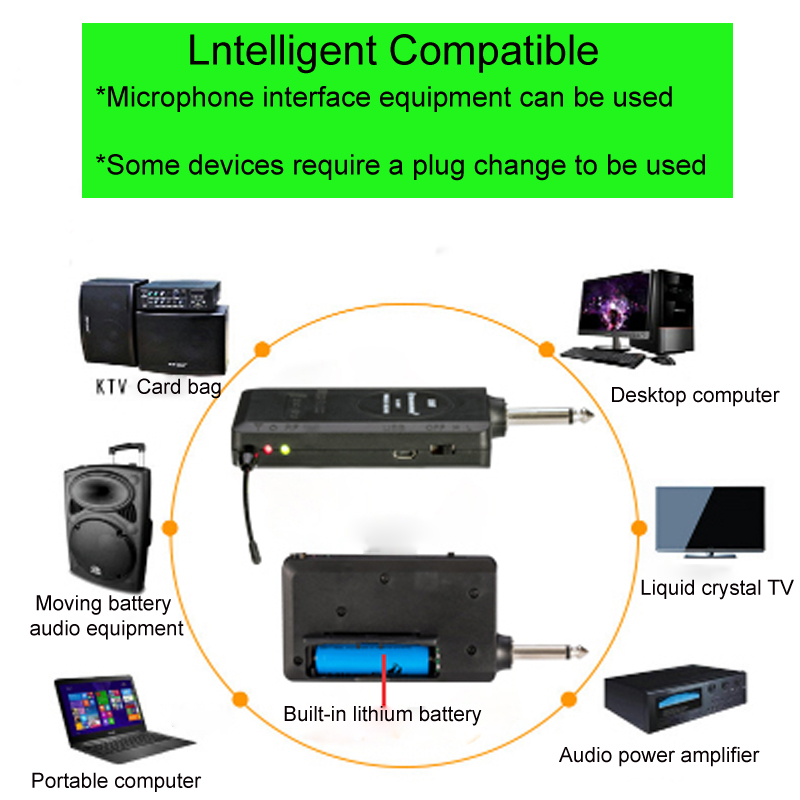 US $16 5 |Mobile UHF single channel 24 frequency automatic frequency  selection universal metal handheld wireless microphone-in Microphones from