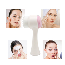 Double Side Multifunctional Silicone Face Brush Cleanser Cleansing Portable 3D Cleaning Washing Massage