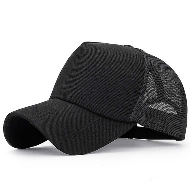 3ba40dd5 Solid Summer Mesh Cap For Men Women Black Bone Casquette Homme Dad Hat  White Mesh Hat