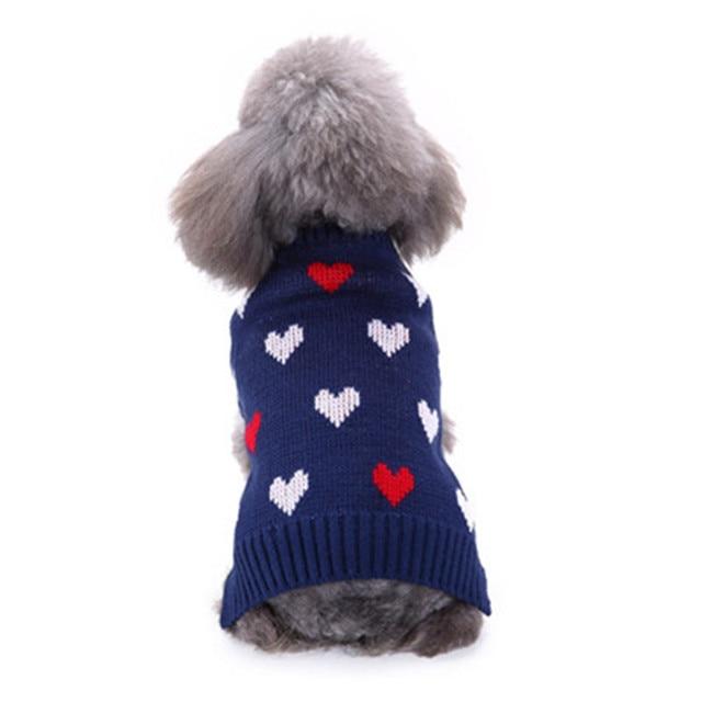Mascota perro gato suéter ropa invierno cálido amor abrigo traje ...