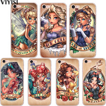 Tattoo Princess Sexy For Apple iPhone 5 5S SE 6 6S 7 8 Plus X XS MAX XR Phone case Soft Silicone TPU case Back Cover Coque цена и фото