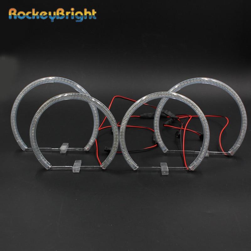 Rockeybright Car 2x131mm 2x146mm 60SMD LED Angel eyes for BMW e36 e38 e39 e46 Non-projector Car headlight kit smd led Angel Eyes все цены