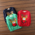 New kids Christmas Deer Cashmere Sweater Girl with thickened sleeve head neck sweater DSL550