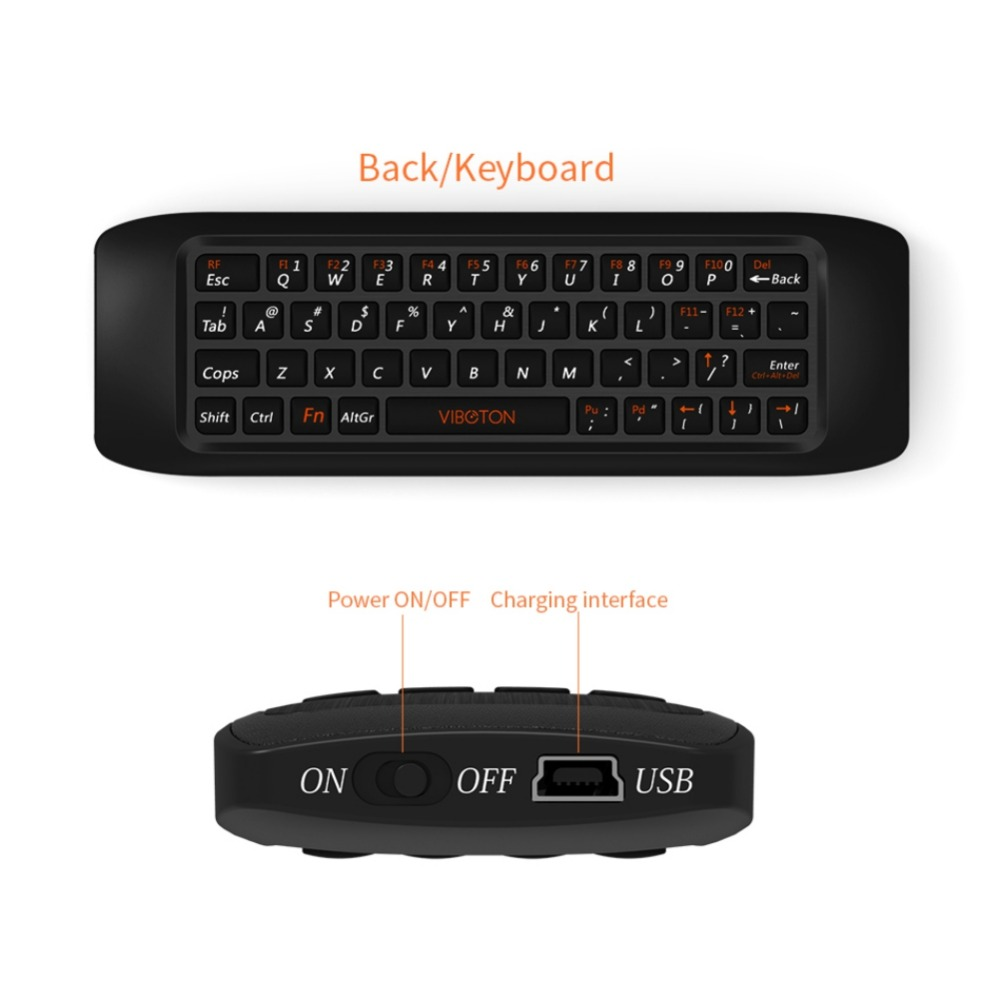 Remote control Learning keyboard Combo 2 4G Fly Air Mouse Raspberry pi 3 Wireless Keyboard for