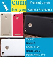 1xScreen Film Nillkin Hard Protector Cover Case For Xiaomi Redmi 2 Red Rice 2 Frosted Shield