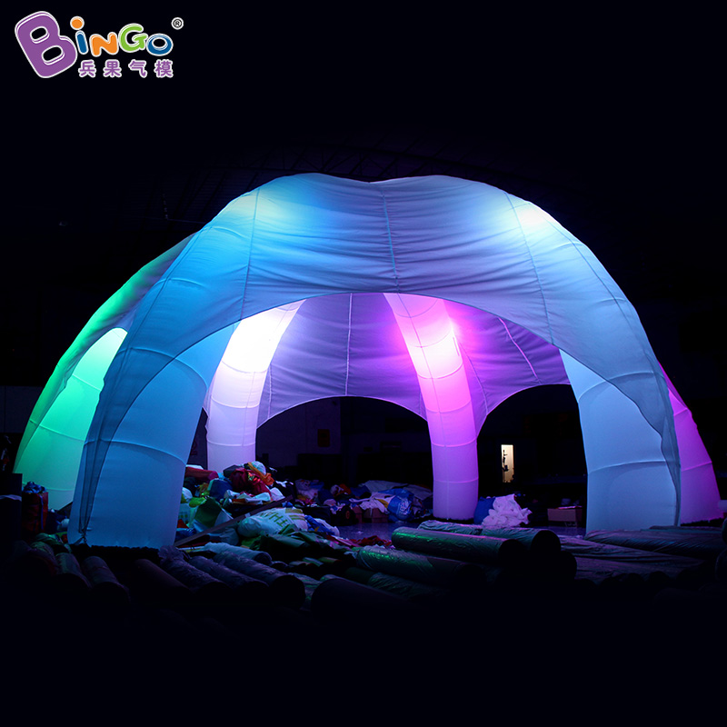 Free shipping LED lighting inflatable marquee tent for sale customized inflatable car roof tents with six legs for outdoor event free shipping lighting large inflatable spider tent for party event exhibition rental