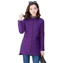Stylish Girls Winter Quilted Puffer Jackets Purple Red Black Basic Coats Woman Slim Fit Wadded Jacket Lady Lightweight Parka 3XL