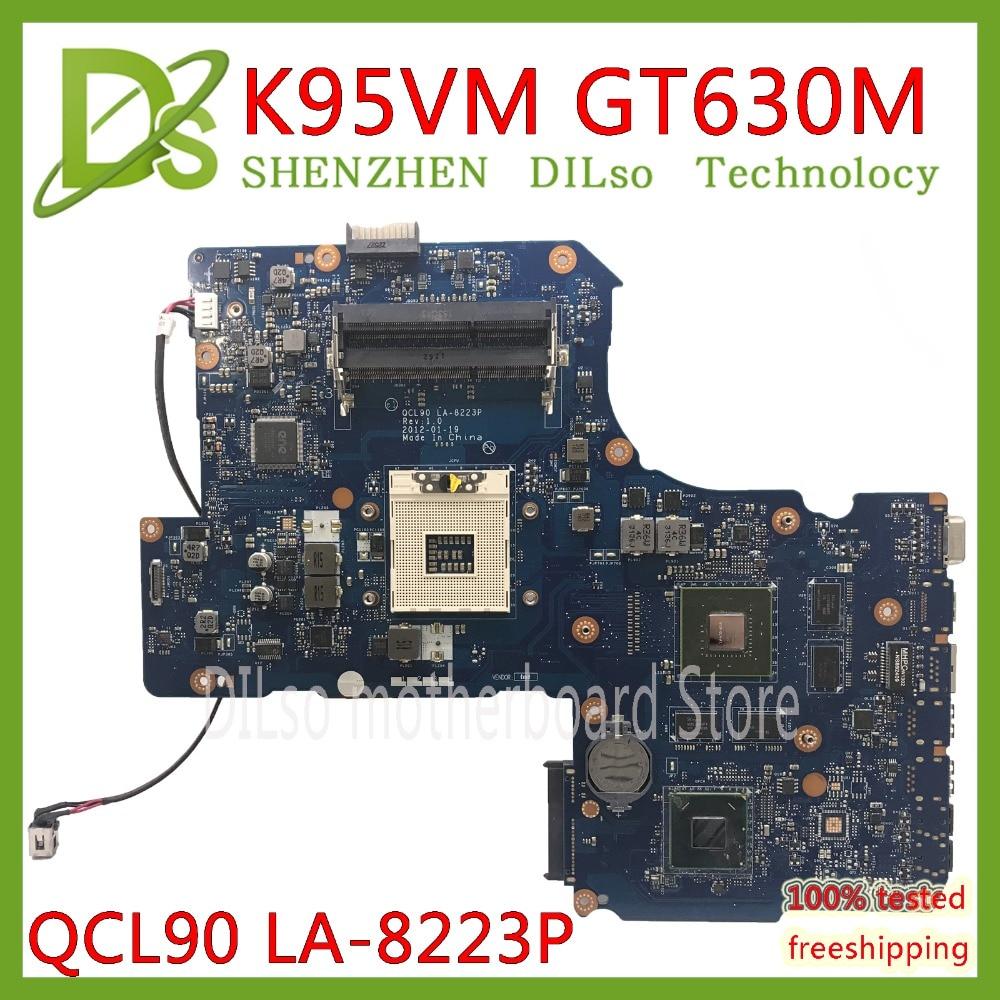 K95VM Motherboard For Asus A95VM A95V K95V A95VJ R900V QCL90 LA-8223P Mainboard