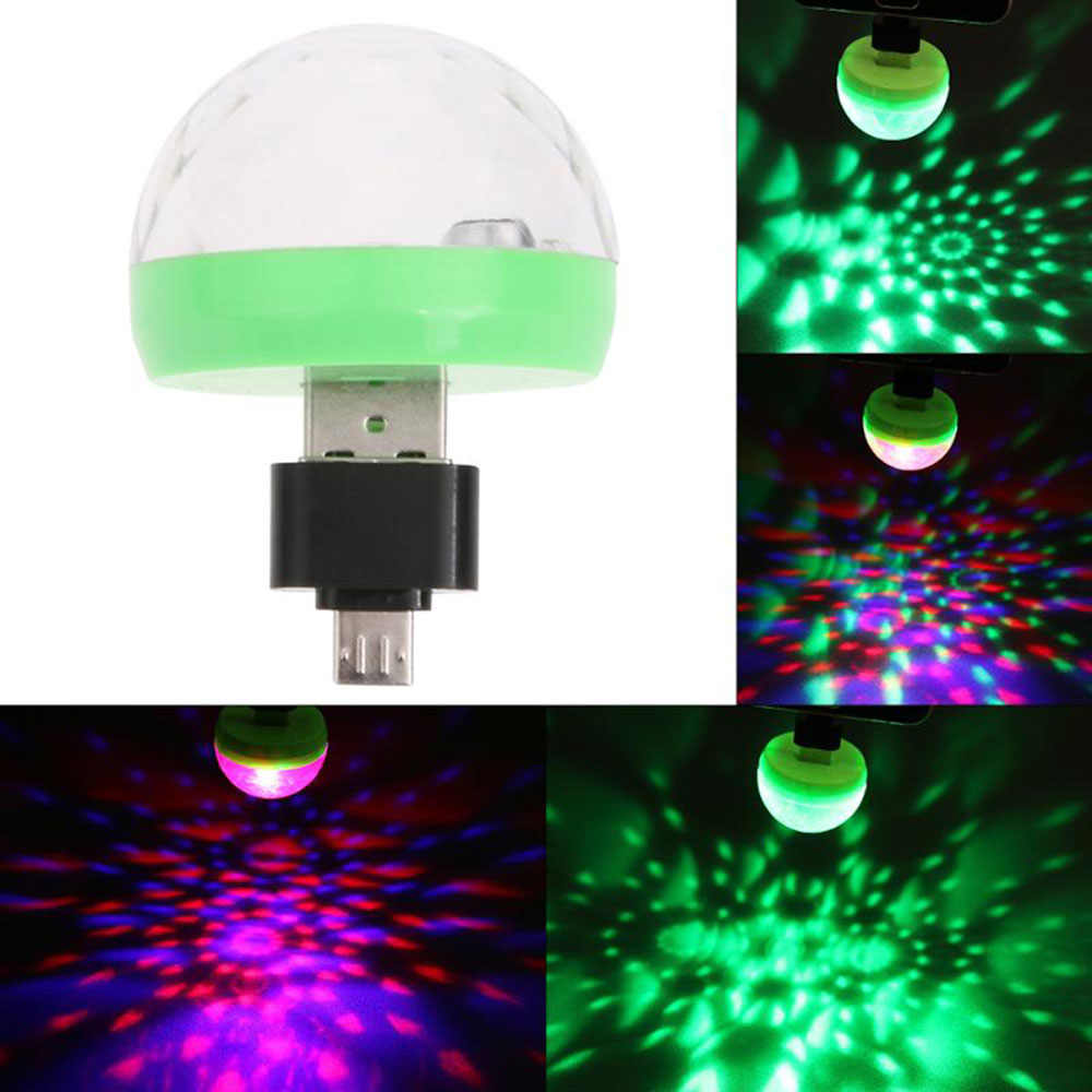 Motorcycle Car Mobile Phone USB Light Portable USB Stage Disco Lights Family Reunion Magic Ball Light Party Club Auto Lamp