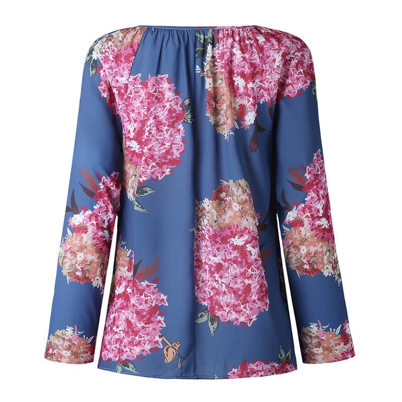 Autumn Casual Shirt Women Clothes Streetwear Fashion Print Drawstring V-Neck Long Sleeve Sexy Ladies Tops Vetement Femme 2018 (22)