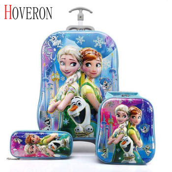 2020 New Children Backpack Kids School Bags With Wheel Trolley Luggage For Boys Girls Backpacks School Bag Children's Gift baijiawei trolley children school bags kids backpacks with wheel trolley luggage for girls and boys backpack schoolbag