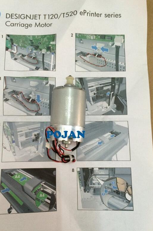 CQ890-67006 FITFOR Designjet T120 T520 AMPXL CARRIAGE MOTOR SV NEW 24&36inch printer plotter parts cq890 40162 fix designjet t120 t520 printhead carriage assy cq890 60239 cq890 67002 ink plotter printer parts