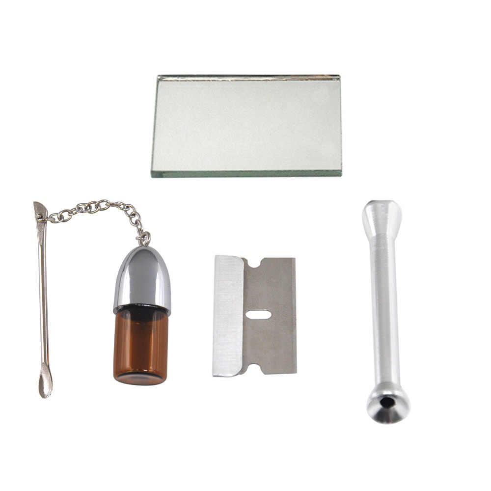 HORNET 100% ของแท้ยาสูบหนังกระเป๋า + Snuff Snorter เครื่องมือ Sniffer ฟาง Hooter Hoover กระเป๋าท่อกระเป๋า