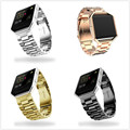 Pulseiras de Relógio ZLIMSN Para Fitbit Banda Fitbit Alta Tira de Aço Inoxidável Chama Chama do Metal Ouro Prata Preto Cinta de Aço Inoxidável