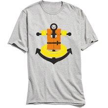 2018 Hot Sale Men T-shirts Funny Birthday T Shirt I Refuse To Sink Cartoon Tshirt Summer/Fall Crew Neck 100% Cotton Tees Grey