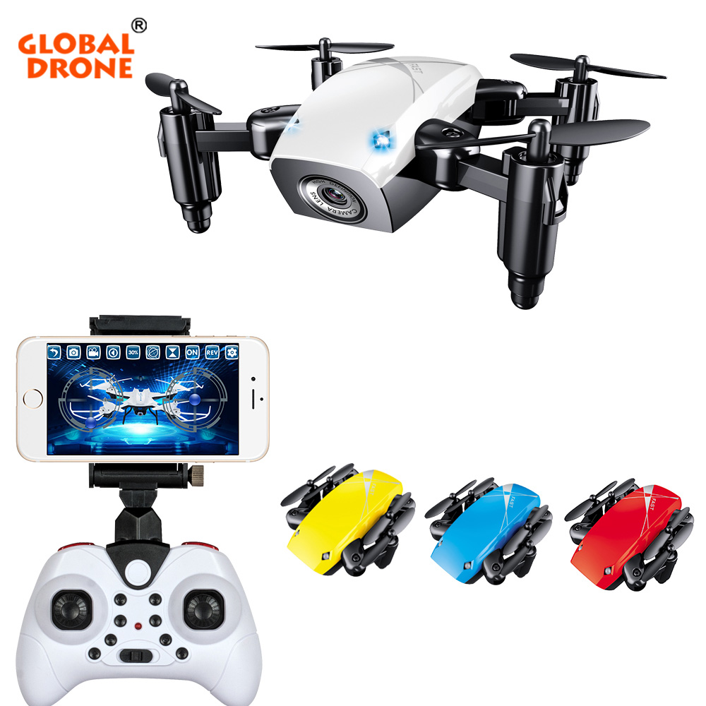 Global Drone S9W Mini Drone with Camera Phone Control Headless Mode RC Helicopter FPV HD Camera Dron VS JJRC H37