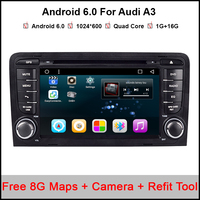 Android 6.0.1 Car DVD CD player GPS Navigation Autoradio Stereo Navi for Audi A3 S3 2003-2012 car Multimedia system