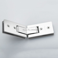 High Quality Stainless Steel Frameless Glass Door Hinges 135 Degree Glass to Glass Shower Door Hinge Glass Clamps