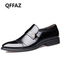 QFFAZ 새로운 봄 패션 옥스포드 비즈니스 남성 신발 정품
