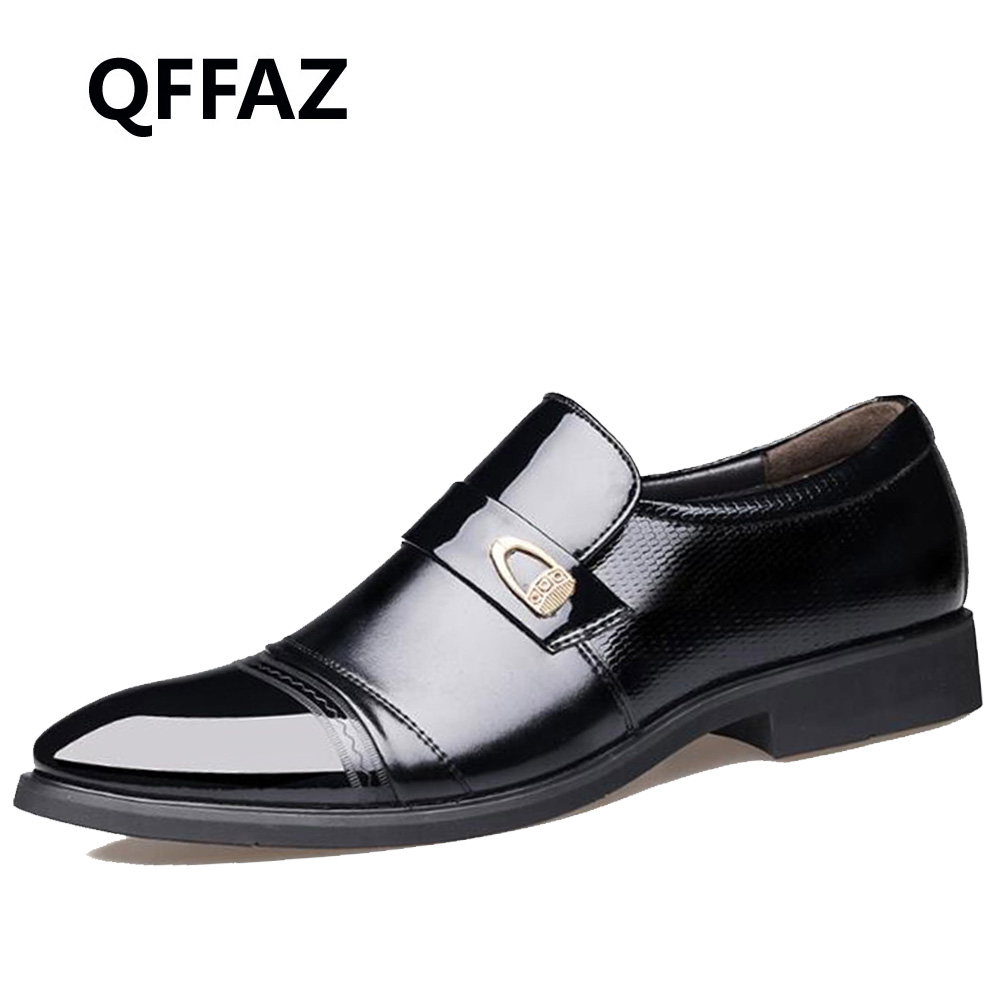QFFAZ New Spring Fashion Oxford Business Men Shoes Genuine Leather High Quality Soft Casual Breathable Men's Flats man Shoes men shoes tide shoes casual fashion oxford business men shoes leather high quality soft casual breathable men s flats man shoes