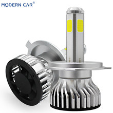 MODERN CAR led Headlight Fog Lamp 9012 100W 6000K White Aluminum Motorcycle Headlamp Light Super Bright COB Headlights For Auto(China)