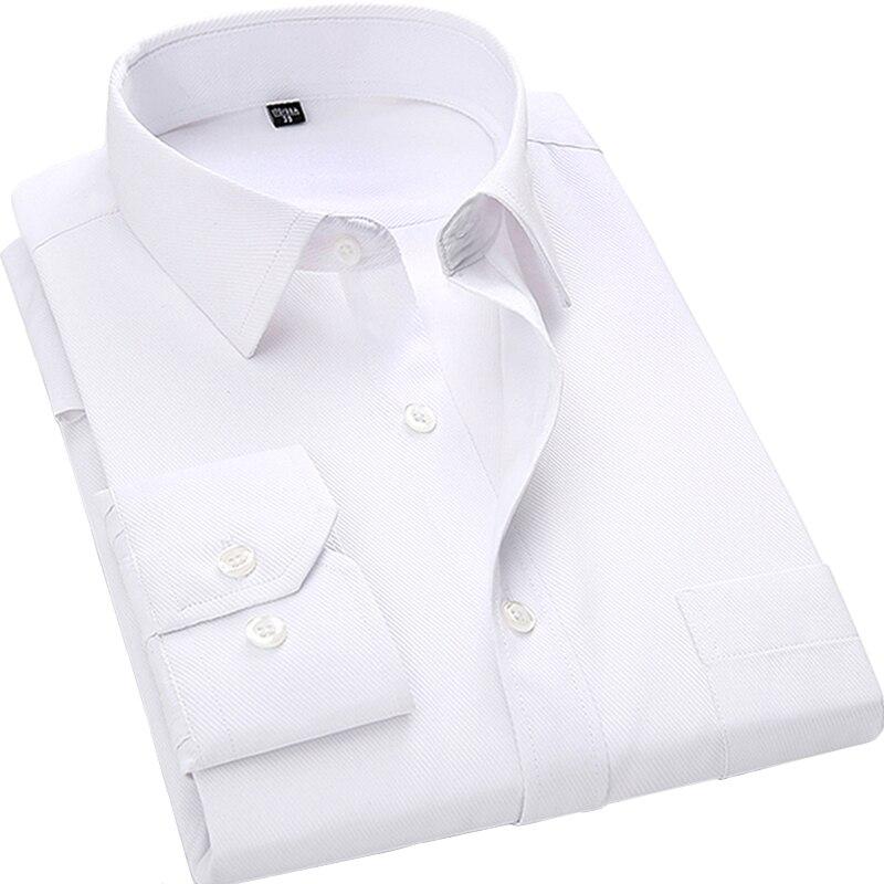 4XL 5XL 6XL 7XL 8XL de gran tamaño de los hombres de negocios casuales de manga larga camisa azul negro blanco inteligente hombre Social vestido de camisa más
