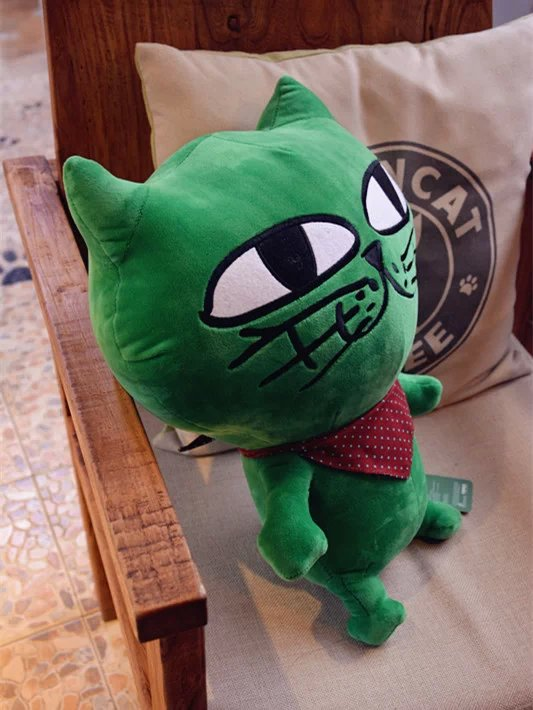 Okcat Ok Taec Yeon original dolls, OK cat plush toy doll cat, jade pillow, U-shaped pillow waist pillow, birthday gift