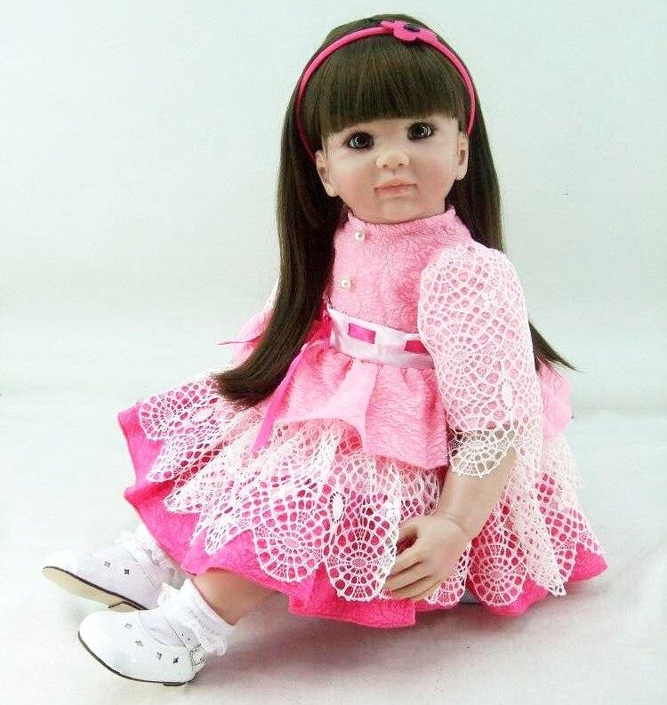 """DollMai  Exquisite reborn toddler princess girl  Adoras bebe reborn 24"""" 60cm silicone vinyl reborn baby dolls toys gift"""