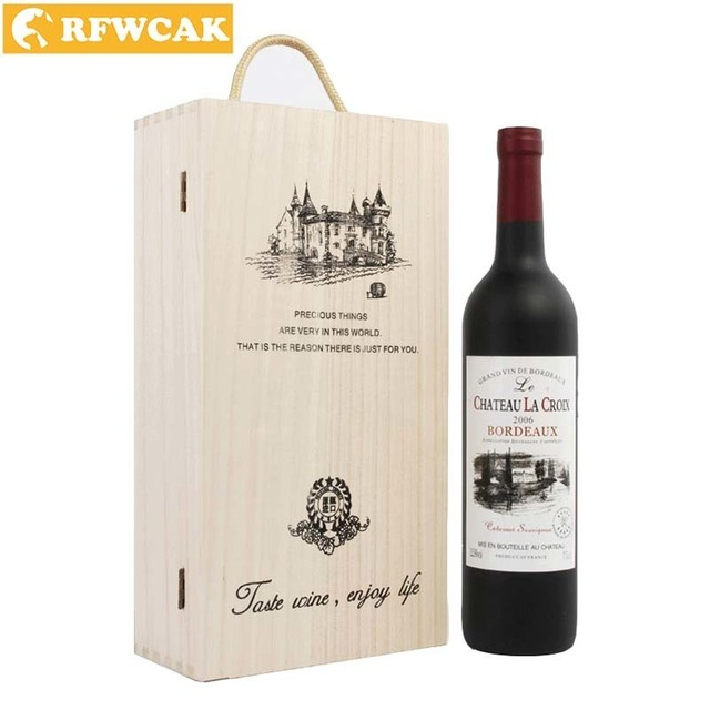 fc6053de6a51b Dropshopping Personalized Double Bottle Tongmu Red Wine Box Packaging Gift Box  Home Storage Box Bar Accessories DIY Crafts