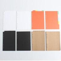 Klassieke 6 gaten index verdelers papers spiraal notebook accessoires briefpapier, fijne index label papier voor organiseren planner A5A6