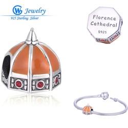 Catedral de Florencia 925 joyería de plata de ley cuentas encanto Fit colgante pulseras plata 925 DIY GW joyería X384H20