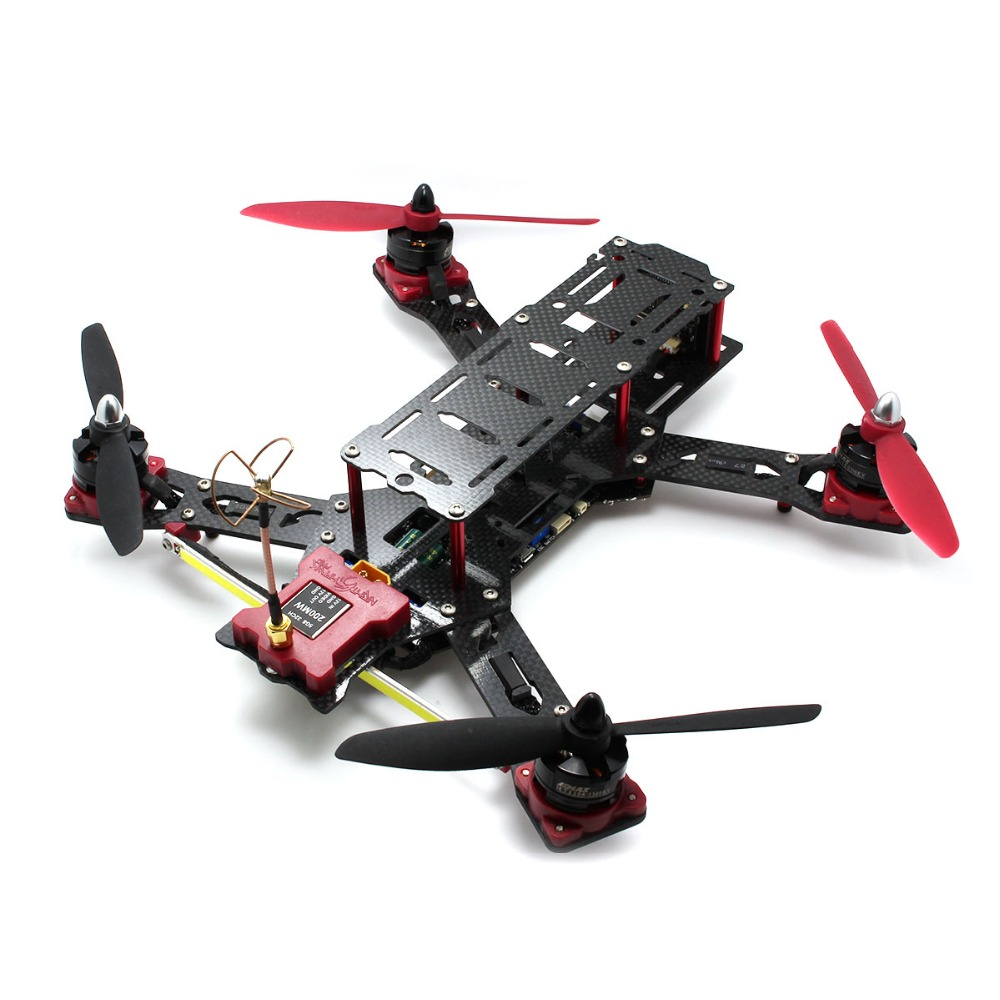 EMAX Nighthawk Pro 280 Size Carbon Fiber Glass Fiber Mixed Quadcopter with Camera - ARF