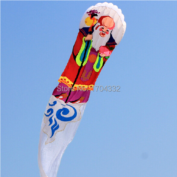 Free Shipping Outdoor Fun Sports 2015 NEW Nylon Cloth 8m Power Carton Xiantao Grandpa Software Kite Good Flying